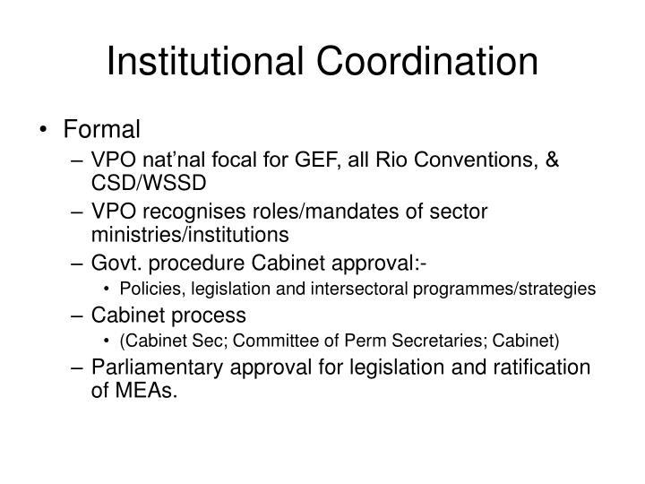 Institutional Coordination