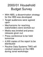 2000 01 household budget survey