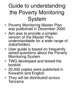 guide to understanding the poverty monitoring system