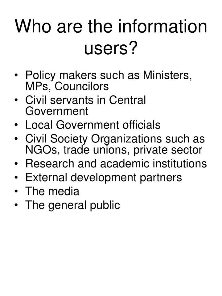 Who are the information users?