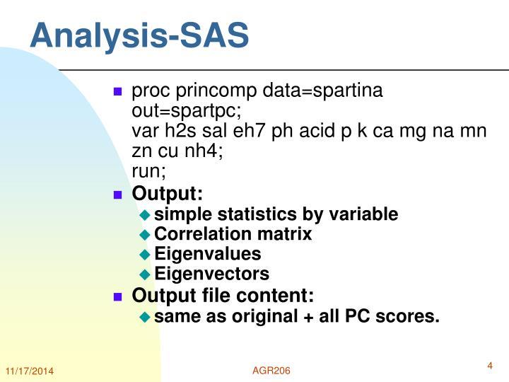 Analysis-SAS