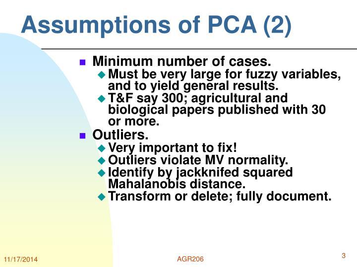 Assumptions of PCA (2)