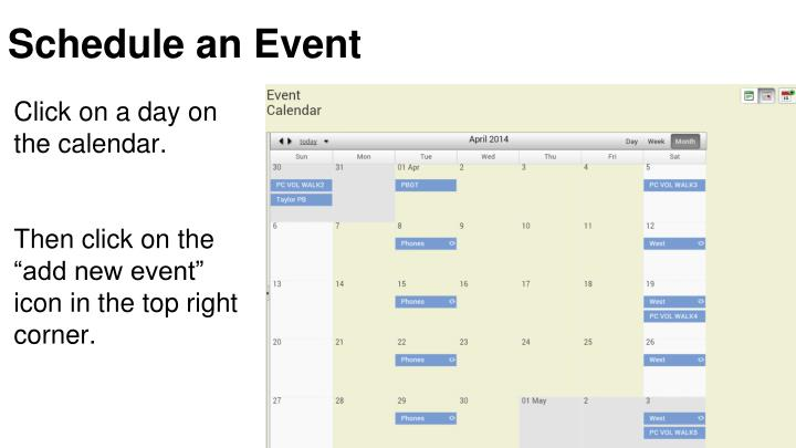 Schedule an Event
