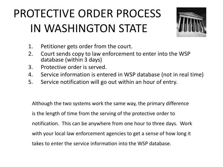 PROTECTIVE ORDER PROCESS