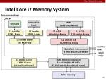 intel core i7 memory system