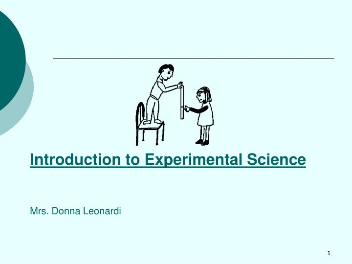 introduction to experimental science mrs donna leonardi