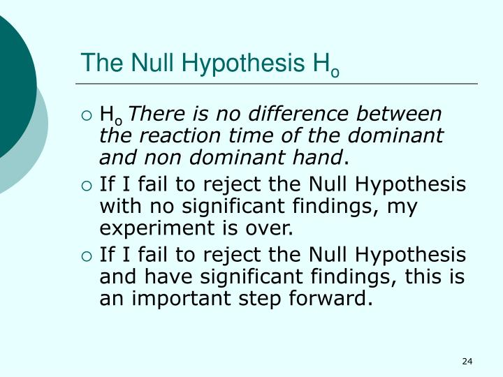 The Null Hypothesis H