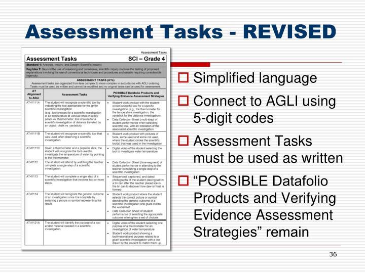 Assessment Tasks - REVISED