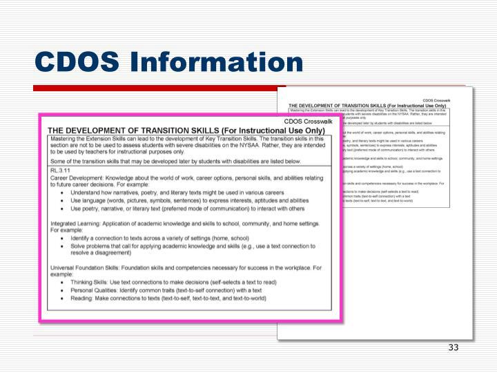 CDOS Information