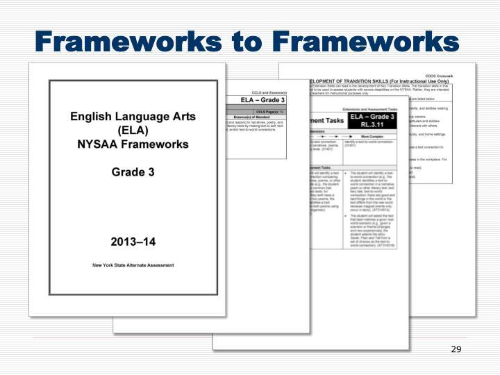 Frameworks to Frameworks