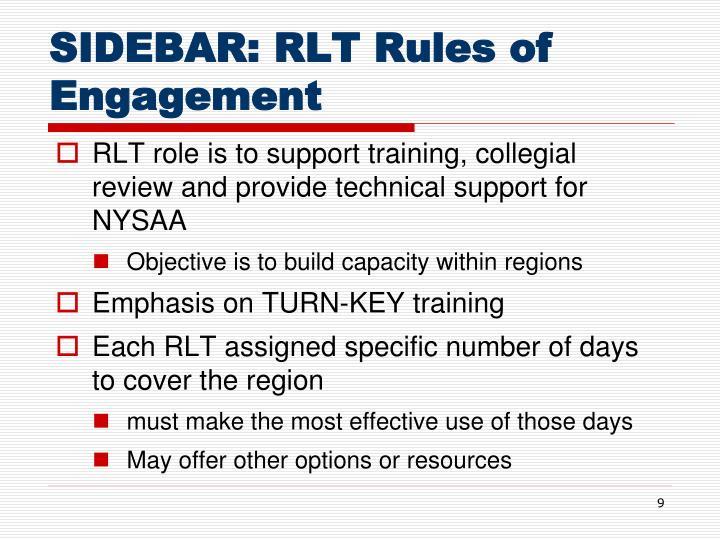 SIDEBAR: RLT Rules of Engagement
