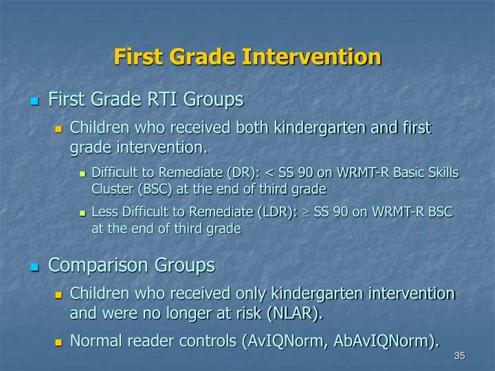 First Grade Intervention