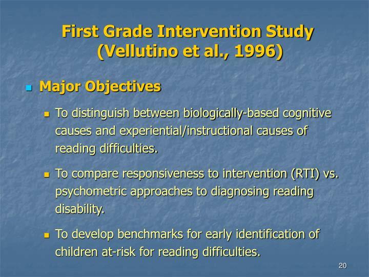 First Grade Intervention Study