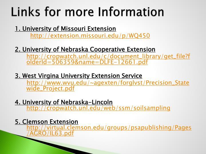Links for more Information