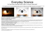 everyday science or how many scientists does it take to change a light bulb1