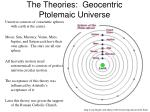 the theories geocentric ptolemaic universe