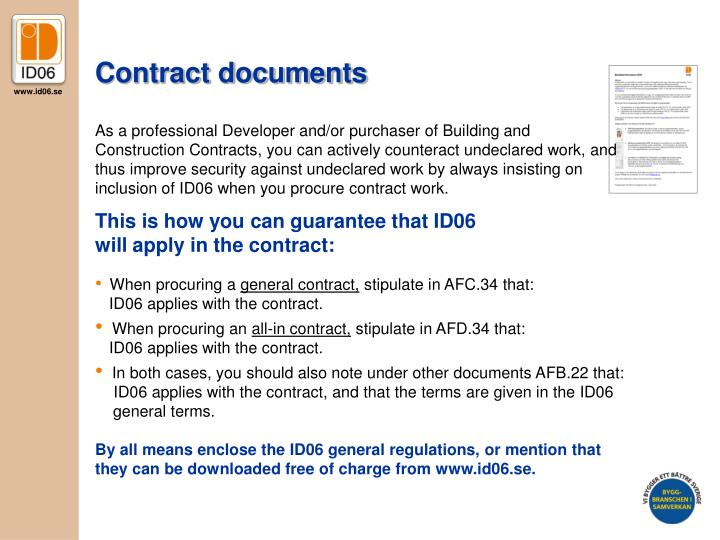 Contract documents