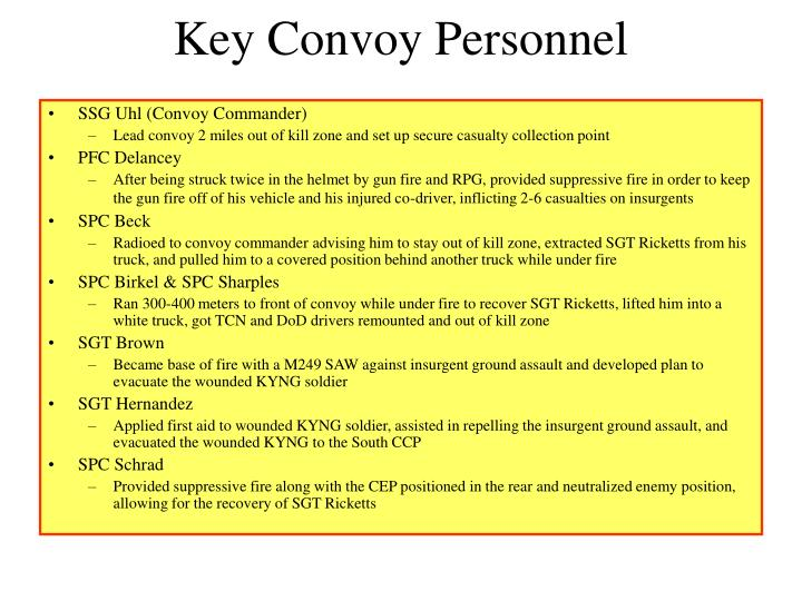 Key Convoy Personnel