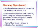 warning signs cont3