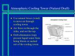 atmospheric cooling tower natural draft