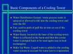 basic components of a cooling tower