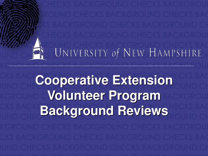 Cooperative Extension Volunteer Program
