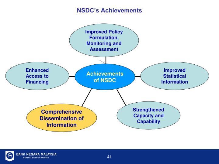 NSDC's Achievements