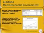 albania macroeconomic environment1