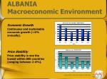 albania macroeconomic environment2