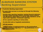 albanian banking system banking supervision
