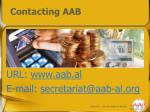 contacting aab