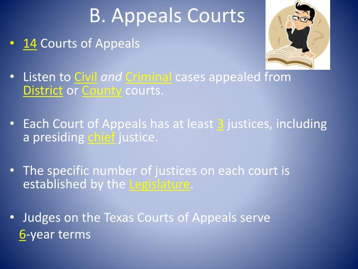 B. Appeals Courts