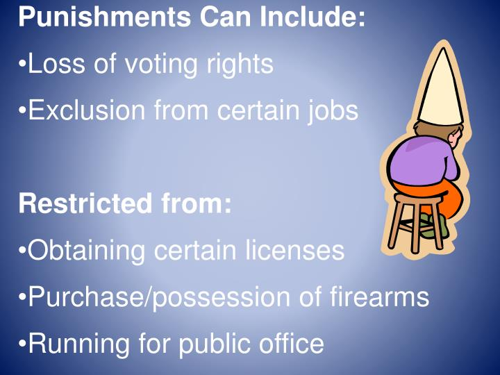 Punishments Can Include: