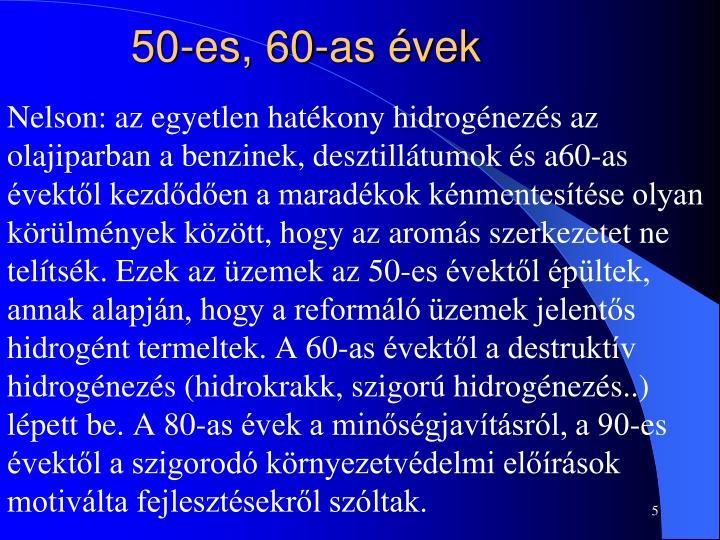 50-es, 60-as évek