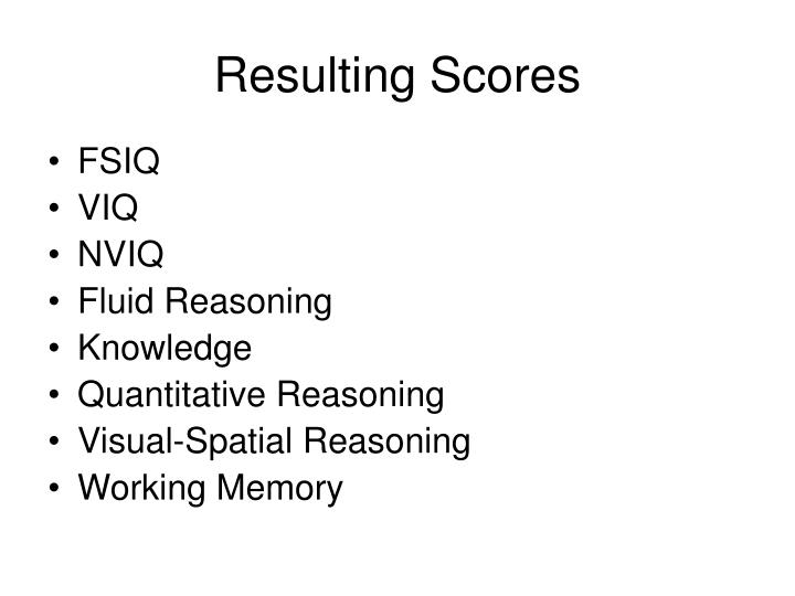Resulting Scores