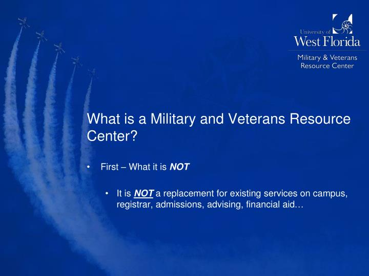 What is a Military and Veterans Resource Center?