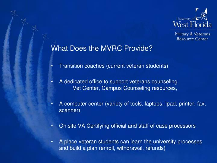 What Does the MVRC Provide?