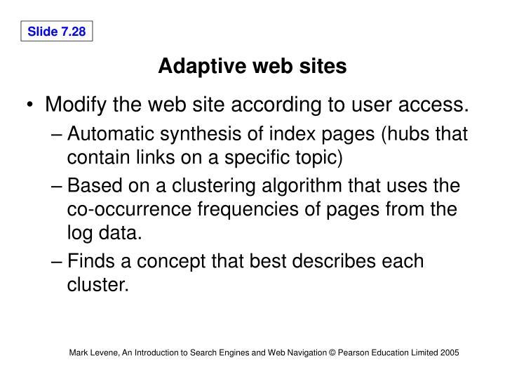 Adaptive web sites