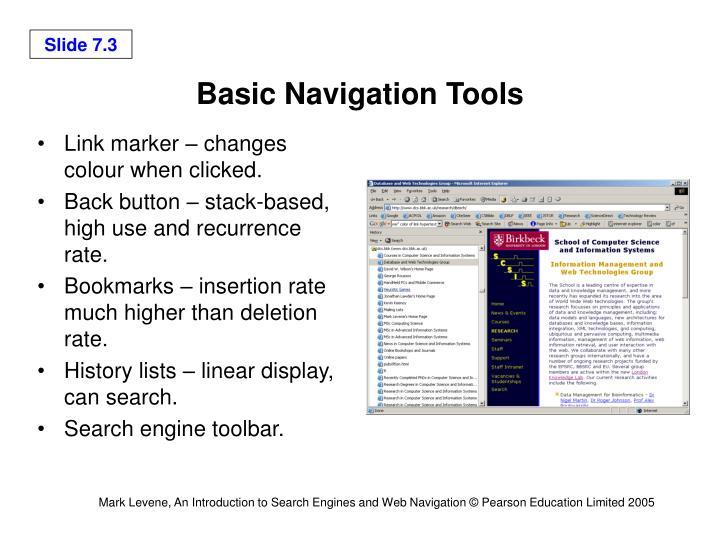 Basic Navigation Tools