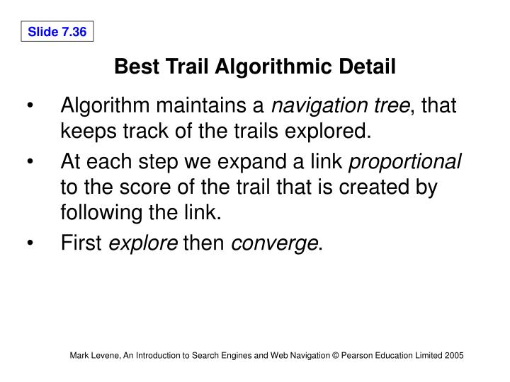 Best Trail Algorithmic Detail