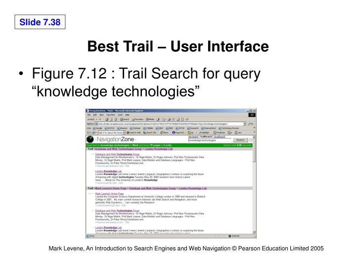 Best Trail – User Interface