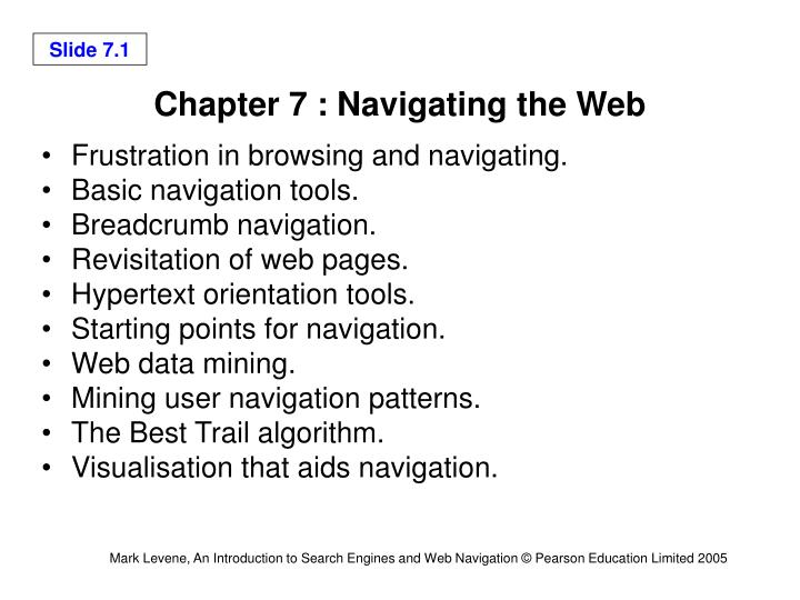 chapter 7 navigating the web