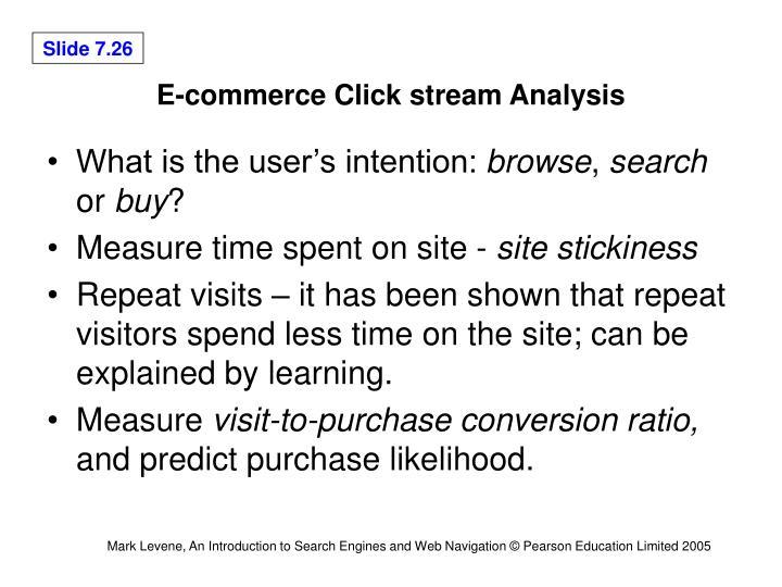 E-commerce Click stream Analysis