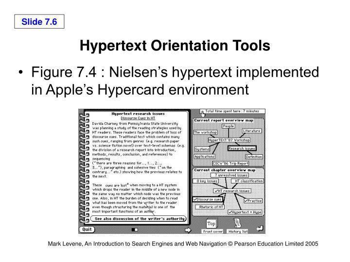 Hypertext Orientation Tools