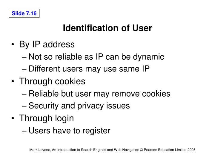 Identification of User