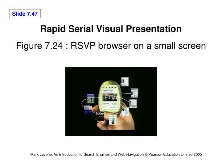 Rapid Serial Visual Presentation