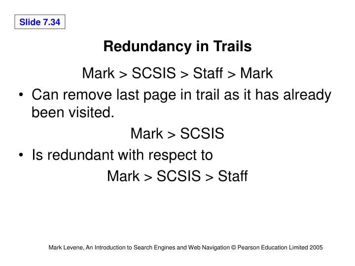 Redundancy in Trails