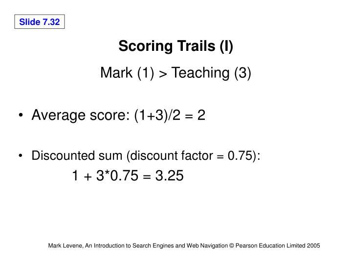 Scoring Trails (I)