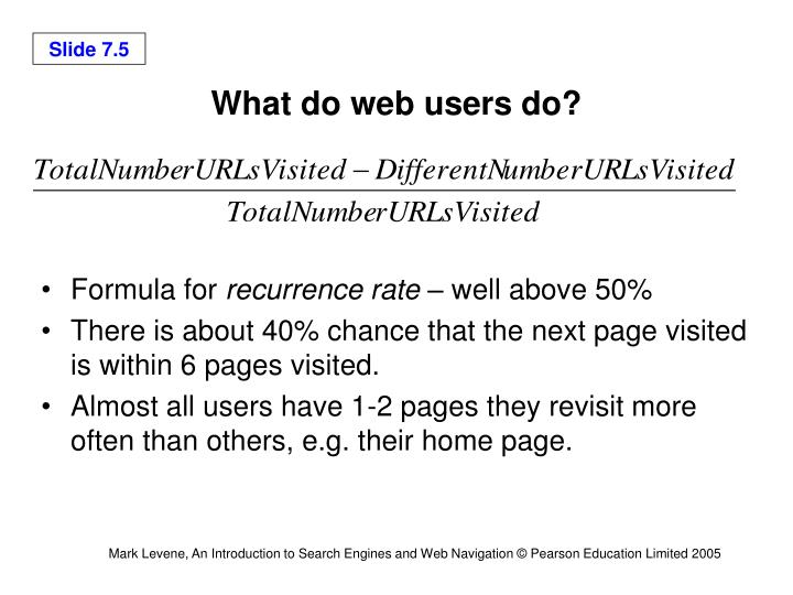 What do web users do?