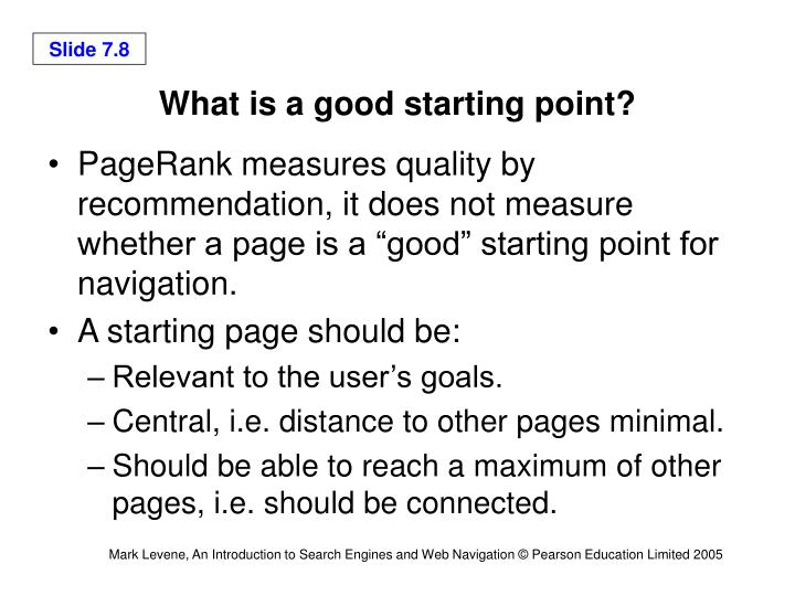What is a good starting point?